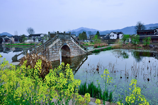Tranquil village in Anhui,China