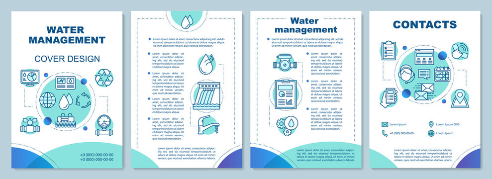 Water resource management brochure template layout