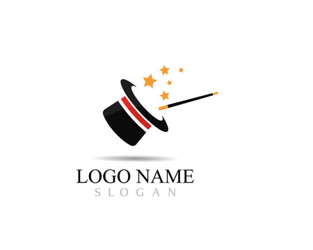 Magic cap logo concept,vector illustration design