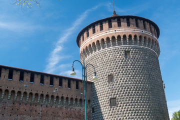 Tower of the castle in Milan