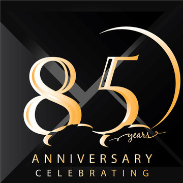 Anniversary 85 years numbers. Poster template for Celebrating 85 years anniversary event party. Vector illustration - Vector