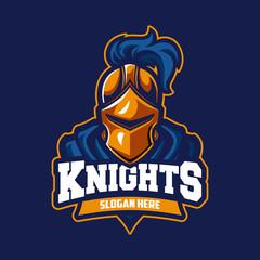 Knight modern professional sport logo