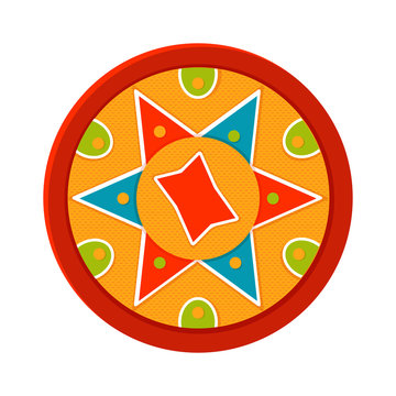 Bihu, vector icon. Indian festival. Assam.