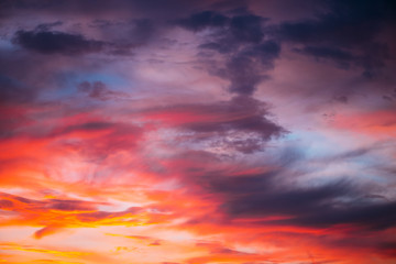 Dramatic sky at sunset Wall mural