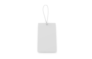 Blank plastic travel number luggage identifier tag, mock up template on isolated white background, 3d illustration