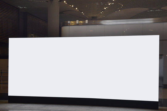 Blank billboard at the airport