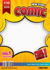 comic book page template design. Magazine cover