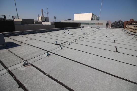 マンションの屋上のアスファルト防水層