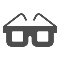 Glasses solid icon. Eyeglasses vector illustration isolated on white. Spectacles glyph style design, designed for web and app. Eps 10.
