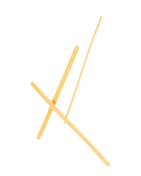 Wooden stick stirrers sticks on an isolated white background