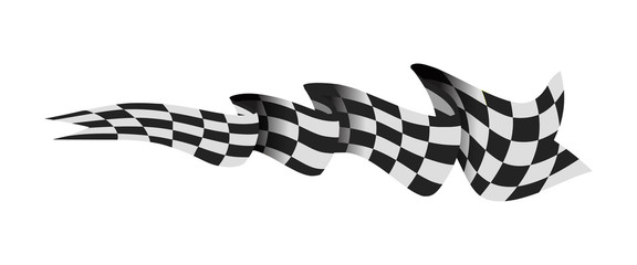 Checkered race flag vector illustration isolated on white