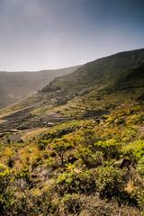beautiful view on the valley near Yaiza, Lanzarote, Canary Islands