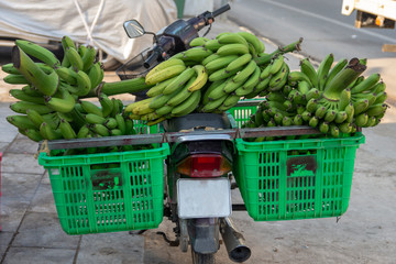 Scooter loaded with bananas, picture from Phu Quoc Island, Vietnam.