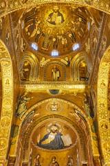 La pose en embrasure Palerme Mosaics in Duomo di Cefalu