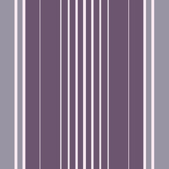 Elegant purple and cream shirting stripe design. Seamless vector pattern with vertical stripes. Great for luxury, wellness, beauty products, home decor, gift wrap, stationery, packaging, fabric