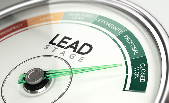 Inbound Marketing and Sales Process Concept, Leads Stage