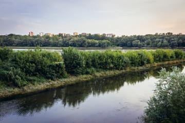 Zeran Canal of Vistula River in Warsaw, capital city of Poland