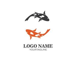 Koi fish logo vector