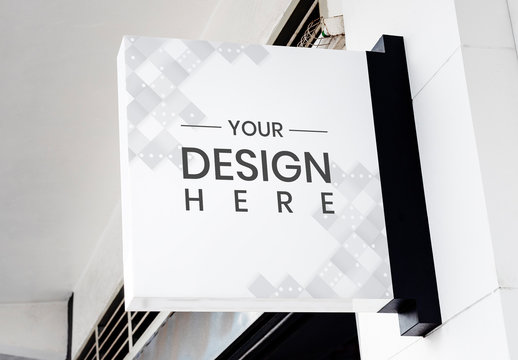 White Outdoor Design Board Mockup