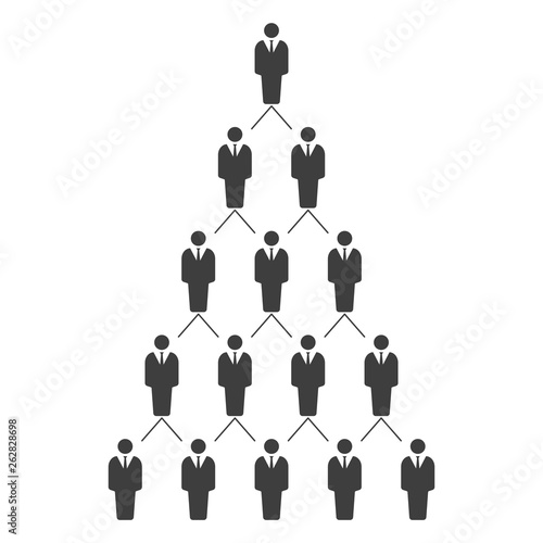 Graphic illustration of a hierarchical career ladder  HR management