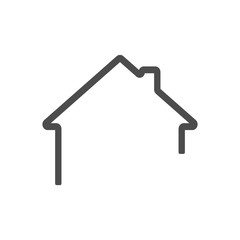 dark grey Home outline icon vector eps10. House icon outline. Home icon.