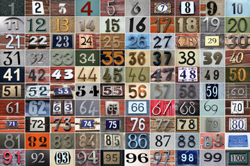 100 house numbers