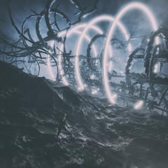 concept art of futuristic science fiction landscape environment