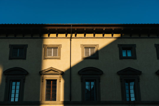 Traditional Italian buildings in Florence, Italy,