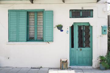 colorful door