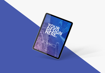 Isolated Tablet Mockup