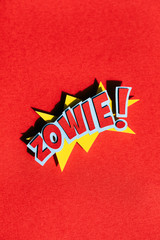 Super Hero Comic Word Zowie