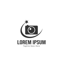 Photography logo template design. Photography logo with modern frame isolated on white background