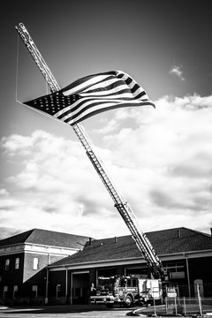 American Flag Fire Station