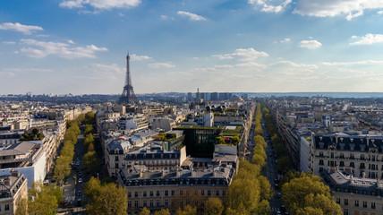 Paris Skyline and Eiffel Tower