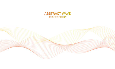 In de dag Abstract wave Abstract colorfull wave element for design. Digital frequency track equalizer. Stylized line art background.Vector illustration.Wave with lines created using blend tool.Curved wavy line, smooth stripe