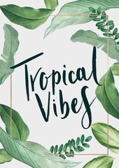 Tropical vibes poster