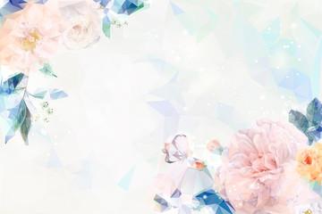Dreamy floral invitation card