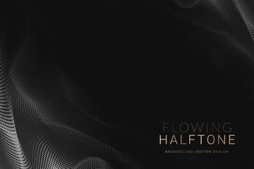 Gray halftone background
