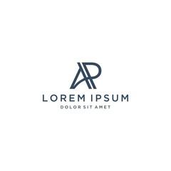 unique design logo or monogram or AP letter initials
