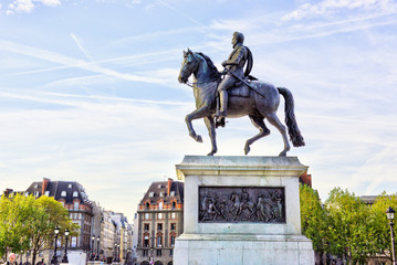 The equestrian statue of Henry IV by Pont Neuf, Paris, France.