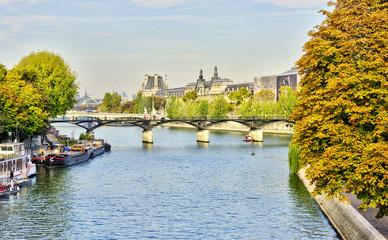 Views of Seine river in Paris, France, travel Europe Wall mural