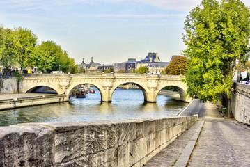 Views of Seine river in Paris, France, travel Europe