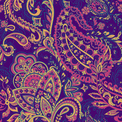 Paisley seamless pattern for fabric design.