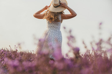 Woman in the lavender field