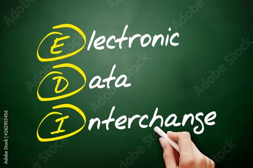 EDI - Electronic Data Interchange acronym, business concept