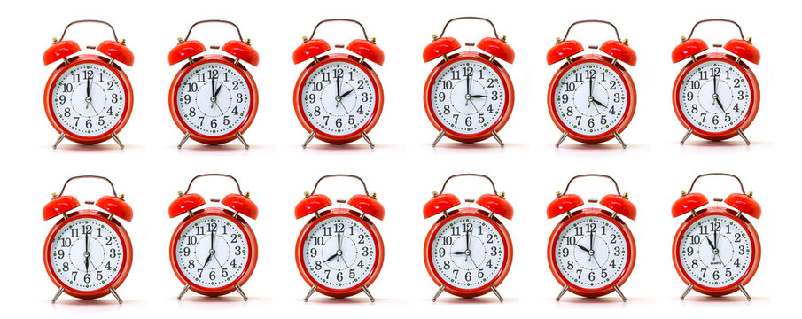 Red Alarm Clocks Collection