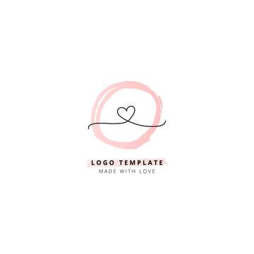 Feminine logo template