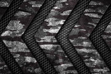 camouflage metal and mesh background and texture.