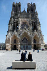 Exterior view of the Reims Cathedral