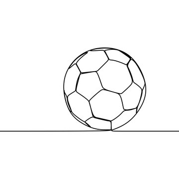 football ball one line drawing continuous style